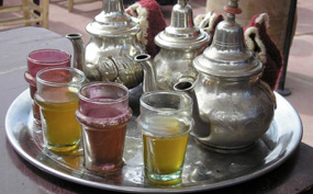 Mint tea in Riad, Morocco