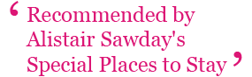 Recommended by Alistair Sawday's Special Places to Stay
